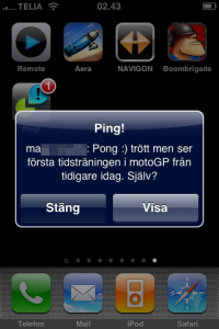 ping push iphone screenshot