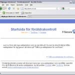 f-secure föräldrakontroll, startsida i webbläsaren