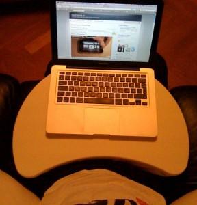 Laptopstöd ikea bräda