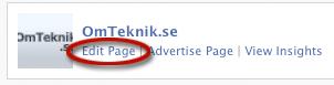 Facebook ändra sida