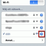 iphone wifi nätverk