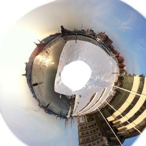 panorama stereografisk projektion