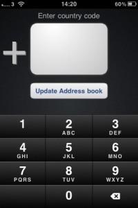 goplus lägger till landsnummer på iphone