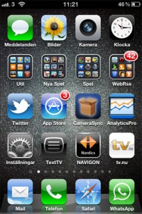 iphone screenshot hemskärm