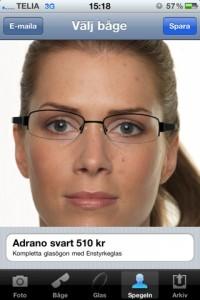 testa glasögon i iphone favoptic