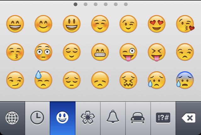 smiley på tangentbordet