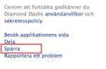 Blockera diamond dash och andra appar på Facebook