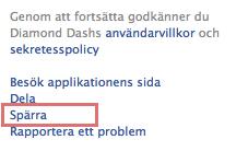 spärra app facebook