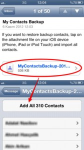 my contacts backup screenshot