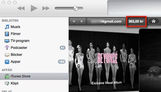 Hitta ditt saldo i iTunes store och app store