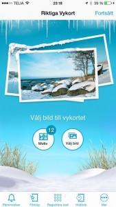 riktiga vykort app iphone