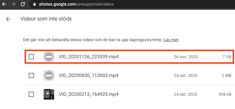 Gmail plötsligt fullt och Google foto använder flera GB utrymme - Lösningen för mig!